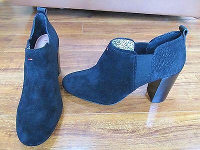 New Ellen Degeneres Ed Mahoney Ankle Boots Womens 9 5 Black Suede Booties  129