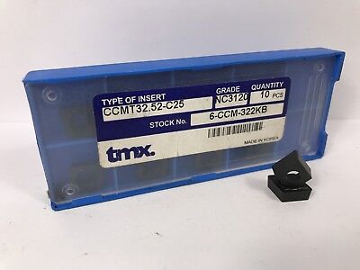 Tmx Ccmt 32.52-c25 New Carbide Inserts Grade Nc3120 10pcs