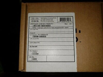 Cisco Telepresence Table Microphone Cab-mic-t60ext Extension Cable New