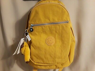 NWT Kipling Challenger Warm Yellow Nylon Medium Backpack BP4459
