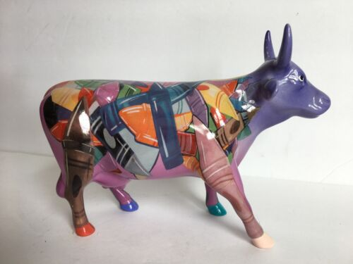 Cow Parade Crayon Cow #9192 Pre-Owned