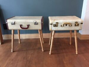 Antique Luggage side tables