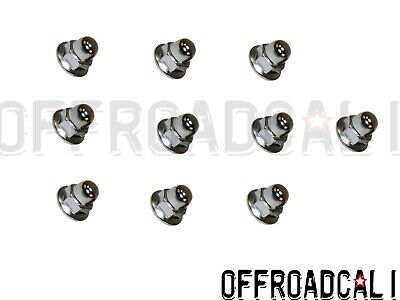 Fits: Volvo 10 pack  License Plate Mounting Nut Chrome Acorn Metric 6mm