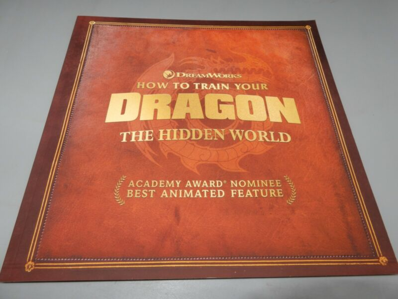 How to Train Your Dragon The Hidden World Press Promo book FYC DreamWorks 2019