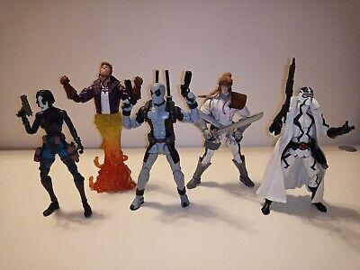 """Marvel Legends 6"""" Fantomex Deadpool Domino Shatterstar X-force action figures"""
