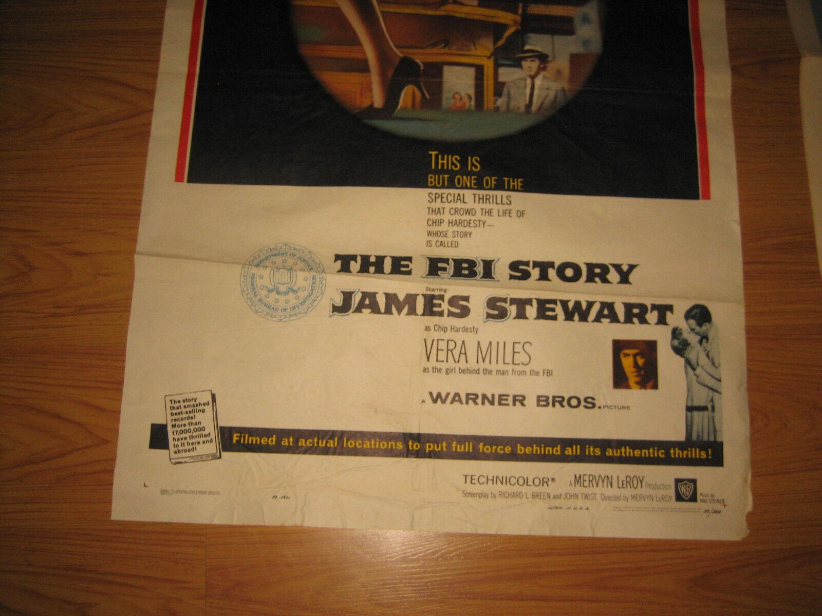The FBI Story Original 1sh Movie Poster  - $93.99