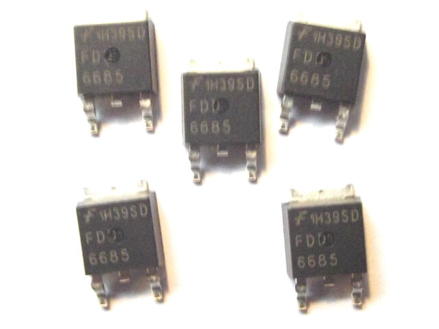 FDD6685 Fairchild  Trans MOSFET P-CH 30V 11A 3-Pin TO-252   x5PCS