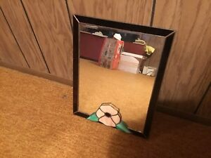 """Stained Glass Mirror.  1' 1 1/2"""" x 10 1/2"""""""