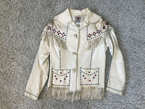 Nez Perce Fireside Native American Deerskin Leather Beaded Fringe Jacket 30's