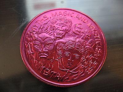 1974 myths magic mysticism satan devil  Mardi Gras Doubloon Coin new orleans