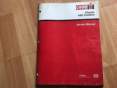 Case Ih 1482 Pull Type Combine Chassis Service Manual Oem