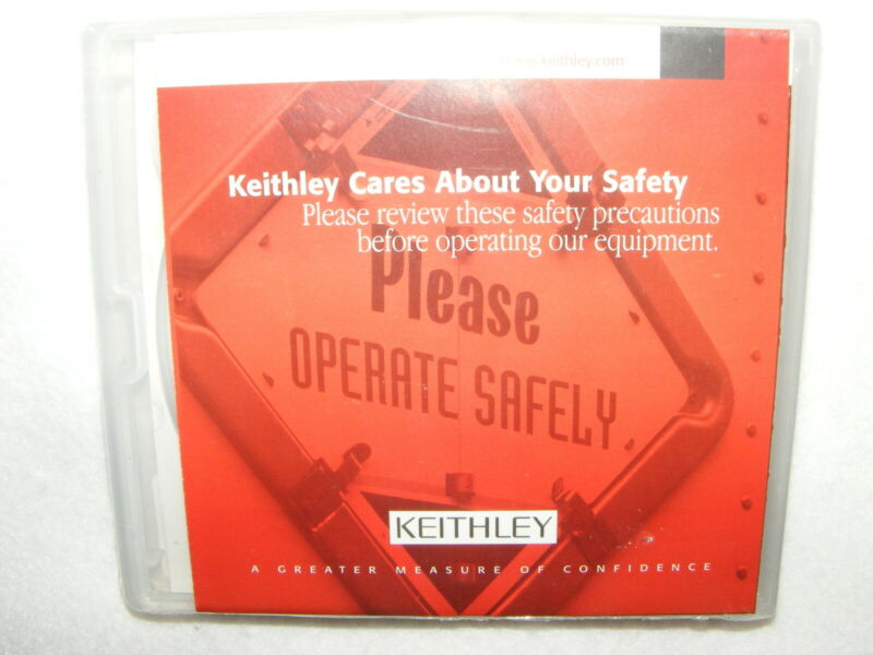 NEW UNOPENED KEITHLEY SERIES 2600 SYSTEM SOURCEMETER CD KTS-850 VERSION A02