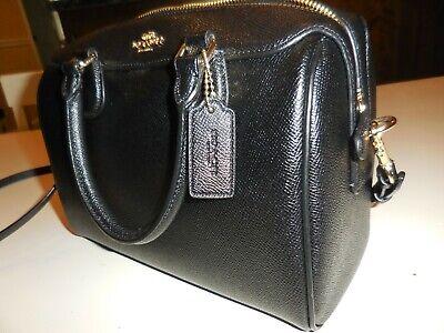 """Coach Leather Shoulder Handbag - Black (9"""" * 7"""" * 5"""")"""