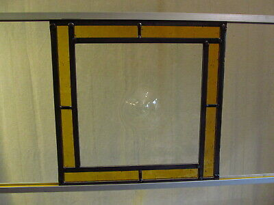 Newly crafted TRADITIONAL Stained Glass Window Panel BULLNOSE 315mm x 315mm