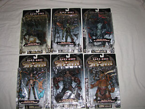 SPAWN-Dark-Ages-6-figs-Raider-Spellcaster-Horrid-Ogre-Skull-Queen-Black-Knight