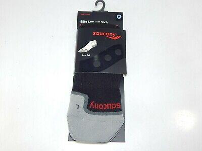 Saucony Elite Low Cut Größe Größe M Sport Athletic Socken Schwarz