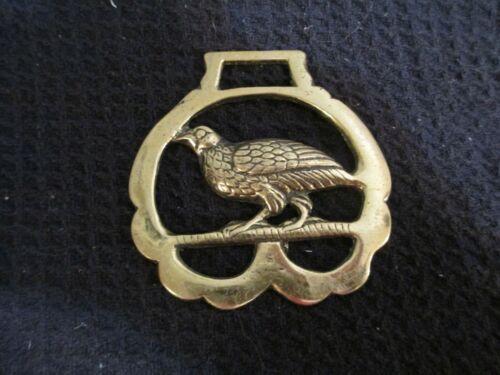 Vintage Horse Brass Harness Medallion -Partridge-EUC-FREE SHIPPING