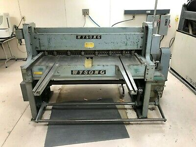 Wysong 52 Inch Mechanical Shear With Rear Mounted Back Gauge