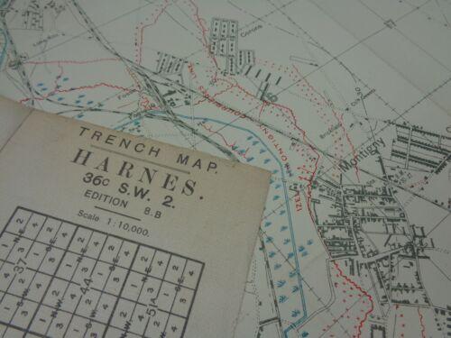 WW1 (1917) INFANTRY TRENCH MAP - East of LENS Area (OPPY-MERICOURT-VENDIN Line)