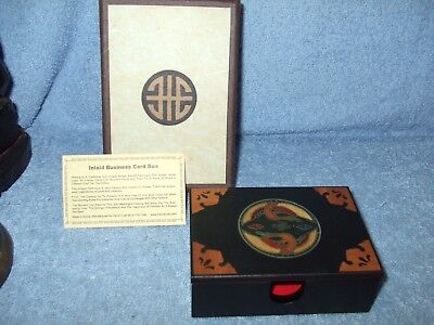 Inlaid Box Lacquer Ware Inlaid Business Card Case Box