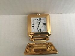 CHOPARD HAPPY DAY  TRAVEL  DESK  GOLD-TONE CLOCK SWISS MADE