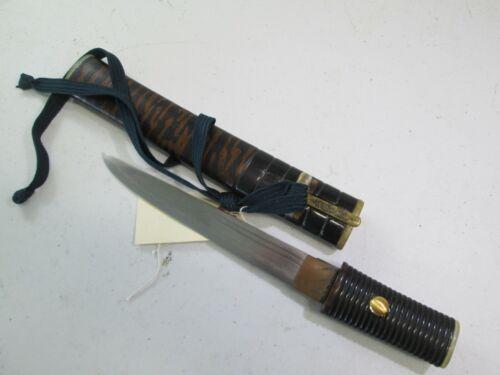 OLD SAMURAI JAPANESE DAGGER TANTO SWORD KNIFE ALL MATCHING MOUNTS & KOGI #T77