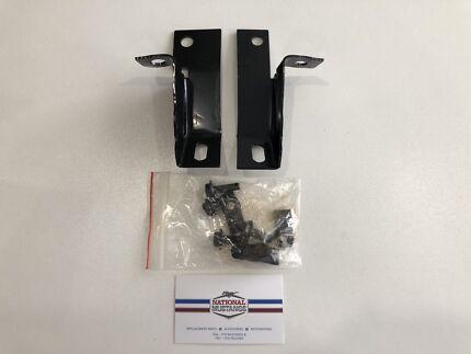 1964-66 mustang rear bumper gaurd brackets & hardware new pair