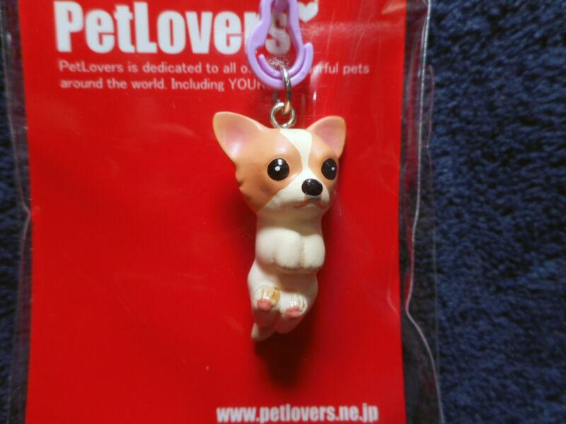 PetLovers Chihuahua (white & brown) Figurine Phone Strap Japan