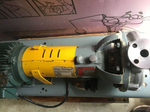 Flowserve MK3 STD 1K1.5X1-82RV/8.00 ss pump WITH 3hp-3ph-230/460V 1755RPM motor