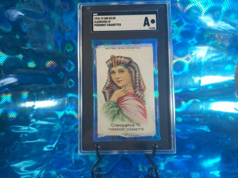 "1910-19 S80 Silks Cleopatra VI Piedmont Cigarettes SGC ""A"" Authentic RARE!"