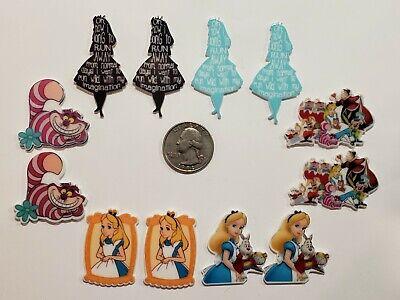 Wonderland Bow (12 Pcs Lot Alice  in wonderland Flatback Resin Cabochon Hair Bow)
