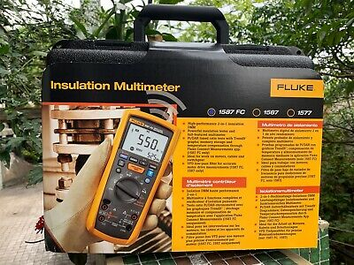 Fluke 1587fc 1587c Fc 1000v Megohm Insulation Tester Multimeter W Fluke Connect