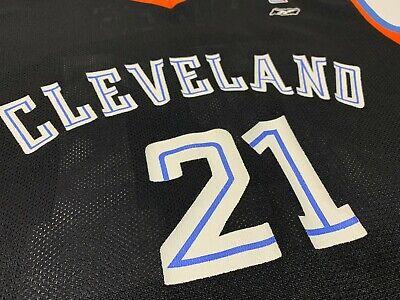 VTG Darius Miles #21 Cleveland Cavaliers Cavs NBA Reebok Jersey Men's L RARE