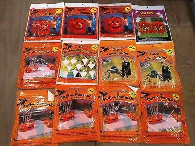 30 Regular Stuff-A-Pumpkin 3 Super 3 Giant Spider 10 Ghosts Halloween Leaf Bags