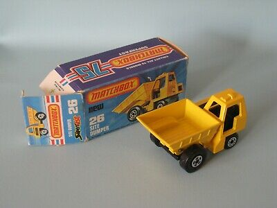 Lesney Matchbox 26 Site Dumper Yellow Boxed Construction Toy Model Car Boxed
