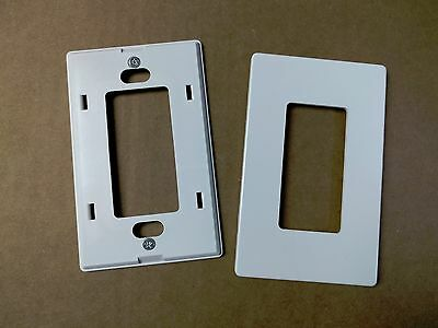 (5 pc) 1 Gang Screwless Wall plate Decora Decorator GFCI Cover White Snap on