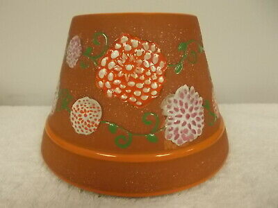 Yankee Candle Large Terracotta Mum Flowers Jar Candle Shade Topper New Candle Terra Cotta Jar