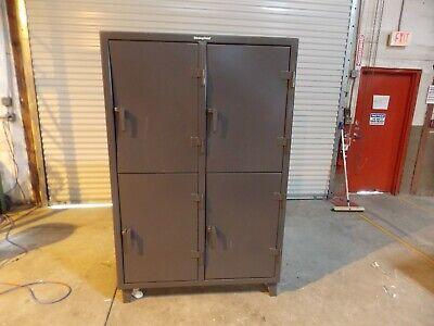 Stronghold 4 Door Steel Locker 50 X 24 X 78 2-tier Gray Model 46-24-2tpl