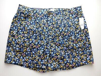 "NWT Gap Women's Navy Floral Khaki 5"" City Shorts 0 2 4 6 8 12 14 16 18 New"