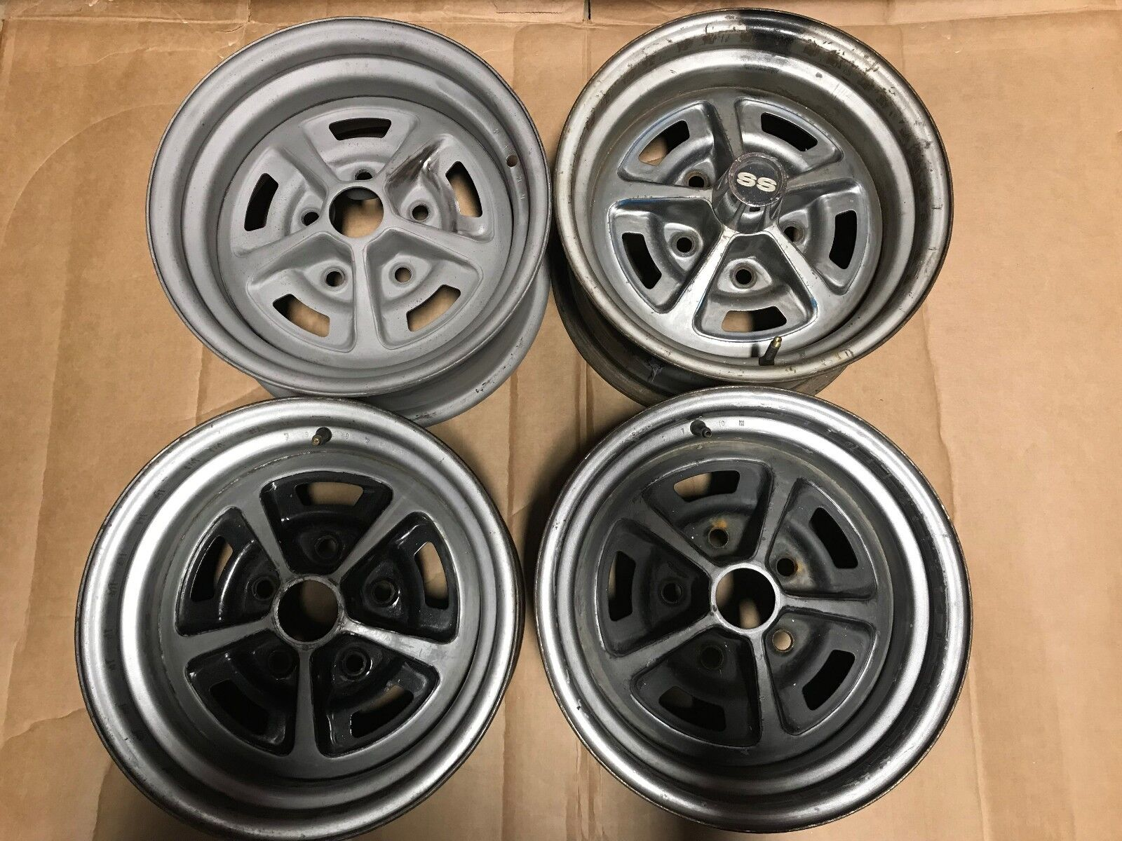 YA Code SET OF 4 Camaro RS SS Wheels Rims Chevelle El Camino Nova Super Sport