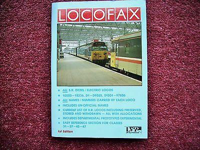 RAILWAY TRAIN BOOK  LOCOFAX lists BR diesel electric locos - see writeup