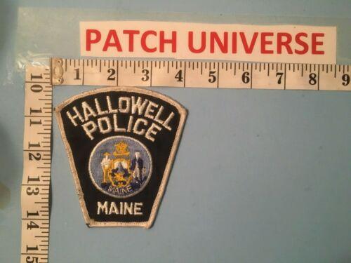VINTAGE  HALLOWELL  MAINE  POLICE SHOULDER  PATCH   D119