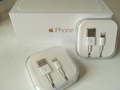 Genuine iPhone Charger Cable - Apple Lightning Sync USB Lead 8 7P 6S With BOXED