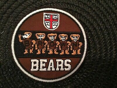 BU BROWN University Bears Vintage Embroidered Iron On Patch  3