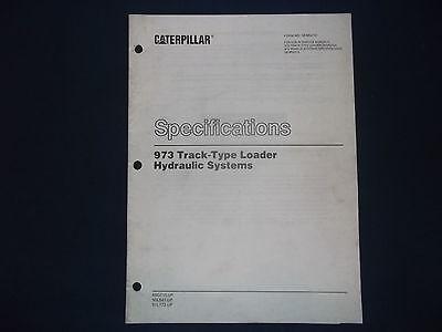 Cat Caterpillar 973 Track Loader Hydraulics Specifications Book Manual Senr4737