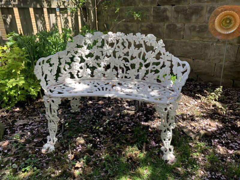 Cast Iron Victorian Style Grapevine Garden Settee, Bench 10 Pieces