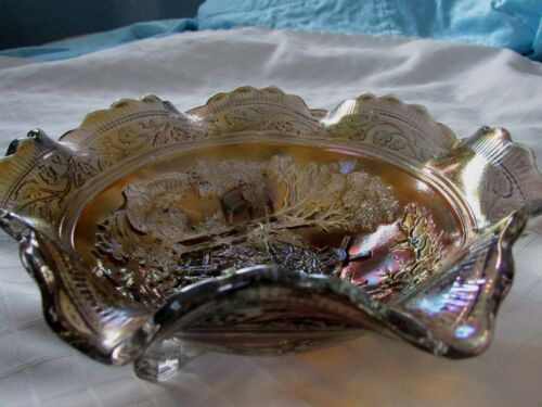 ANTIQUE IMPERIAL GLASS CO. AMETHYST WHIMSEY,RAINBOW OF COLORS CA 1910-1920