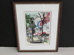 CITYSCAPE-  ORIGINAL LIMITED EDITION ART PRINT-Signed,Framed. NICE!!!!