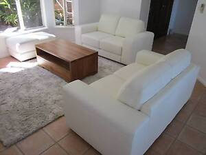 New - Nick Scali White Seattle Leather Couch 3-Piece Set Cairns Cairns City Preview