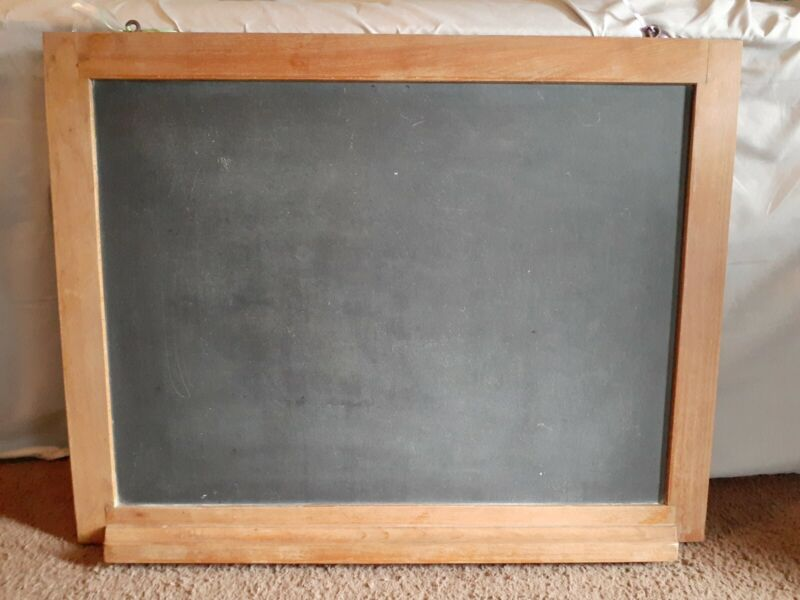 Antique Vintage Hanging Slate Chalkboard With Tray 27X21, Natural Slate Company